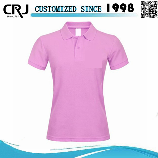 OEM Service Women's Solid Color Polo Shirt Supplier