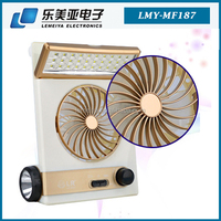 3 in 1 Multi-function Portable Mini USB Fan LED Table Lamp Flashlight Solar Light mini fan