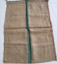 Jute gunny Rice Bag with Green Stripe packing capacity 50kg 100kg