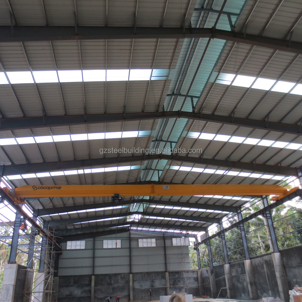 repeat order light steel construction warehouse / structure with crane