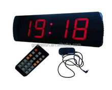 "Godrelish Large LED Digital Clock 4"" High Character Countdown/up Clock Operated by Remote Control,Red"