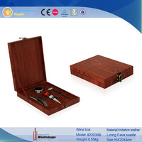 Wholesale Hot sale wine set box,leather accessory holder,wine gift box