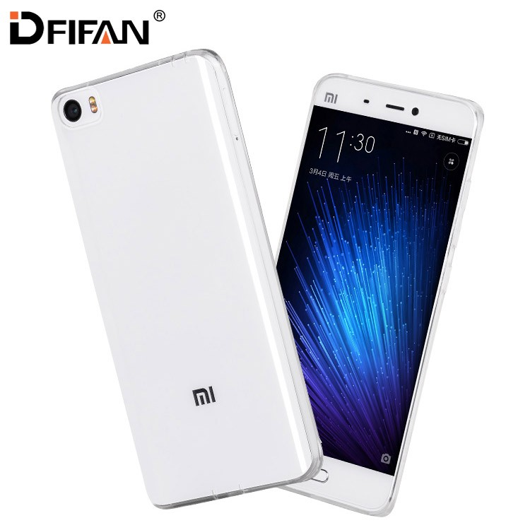 DFIFAN ultra thin transparent case cover for xiaomi 5 5c,newest model for xiaomi 5c,clear soft tpu case for xiaomi