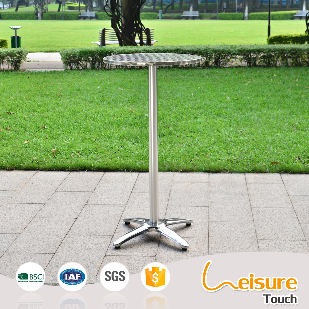 Wholesale new designs high round indoor outdoor metal bar table