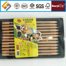 Natural wood color pencil set in PVC bag for artist drawing