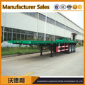 Best price 40 ft tri axle flatbed container semi trailer