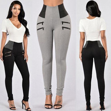 Lady Slim Leggings Women Workout Trousers Elastic High Waist Pencil Pants Leggins Jeggings Gothic