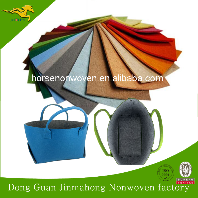 100% polyester nonwoven fabric raw material for felt shopping bag