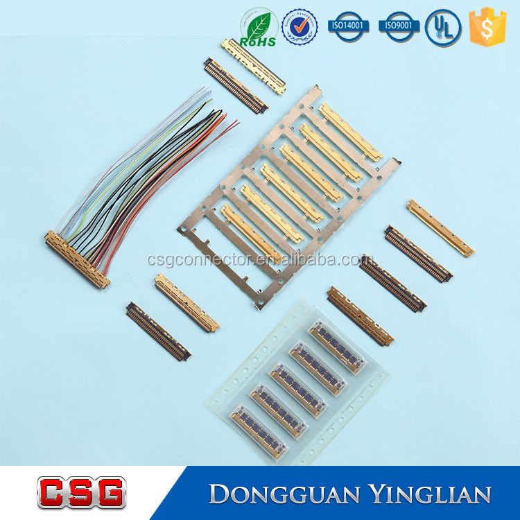 0.5mm FFC/FPC Connector With Hinged-Lock Type UL CE ROHS 3 4 5 6 7 8 10 12 14 16 18 20 30 40 50 60 pin