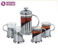 High Quality Tableware Drinking Stainless Steel Irish Coffee Table Set