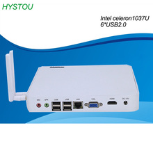 intel Celeron 1037U dual core industrial fanless mini pc x86 with dual wifi