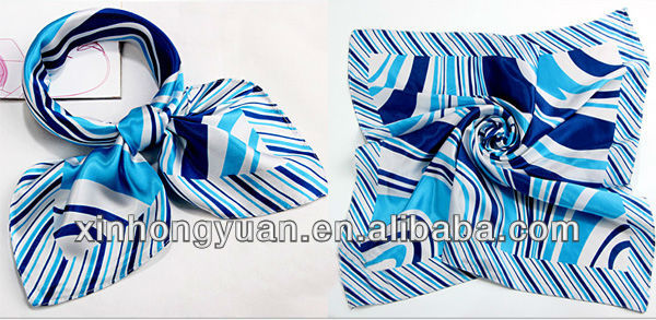 Silk satin Scarf suite for uniform accessory