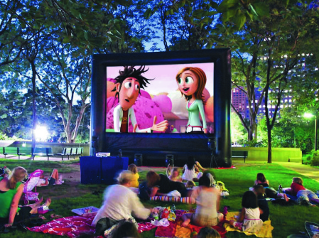 Hot selling outdoor movie screen match the projector