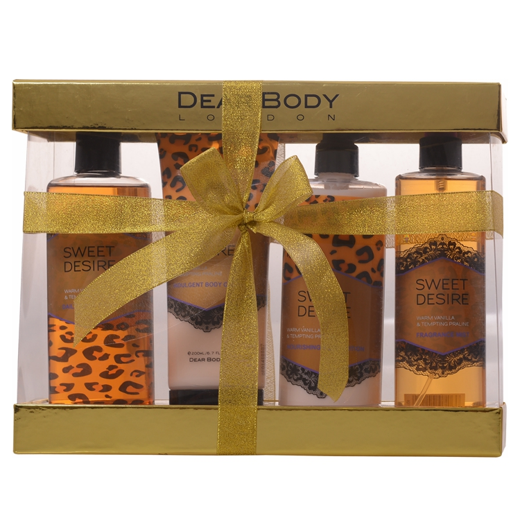 High quality Personal Skin Care Bath and Body Care Gift Set box body lotion /shower gel /body cream for Adults