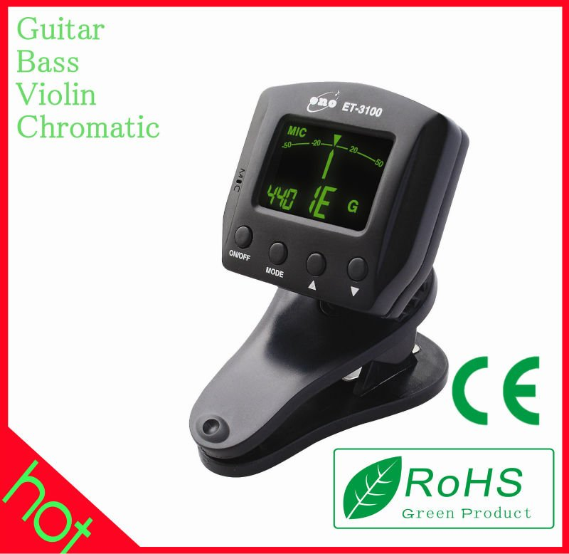 Hot selling mini Clip on universal guitar tuner