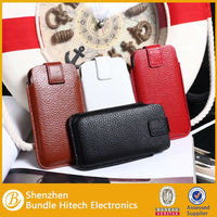 High Quality Belt Clip Genuine Pouch Leather Case for iPhone 4 4s