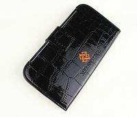Crocodile grained wallet leather case for samsung galaxy s4 with popular design colorful appearance