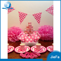 Popular Design Polka Dot Pink Party Ware Kit