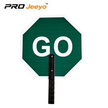 "14x14"" Aluminum Hand Held Portable Traffic Sign , 6"" Poly-grip Handle Stop/Slow Paddle Customized Warning Safety Sign"