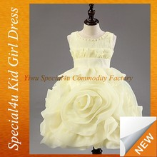 Girls silk party dresses for baby christening gown SFUBD-1095