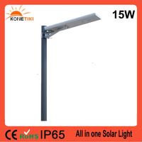IP65 IP Rating and LED Light Source 15w 20w 25w 30w 40w all in one solar piers street light lamp With Wholesale Price