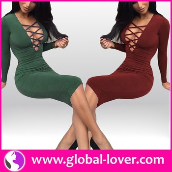 0ce5430412c Low Moq Ladies Long Sleeve Bodycon Dress Sexy Tight Dress - Buy ...