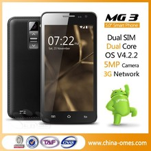 Customized Brand OK MG3 5.0 inch Dual Core 3G Android 4.4 low price cheap shenzhen smart phone