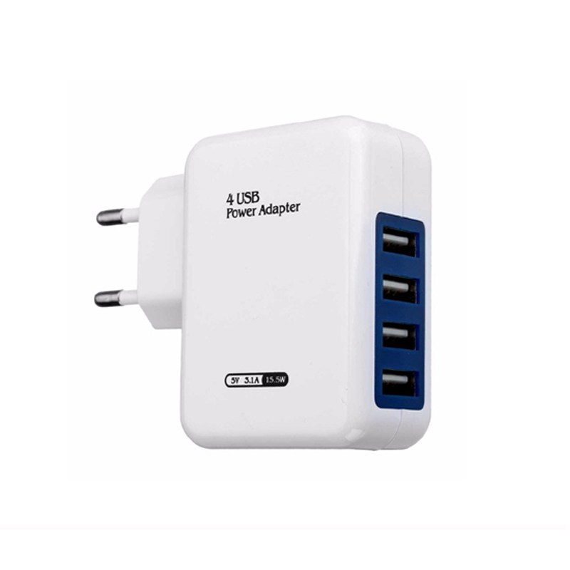 USB Wall Charger Desktop Charger Charging Station PowerPort 4 for iPhone 7 / 6s / Plus, iPad Pro / Air 2 / mini, Galaxy S7
