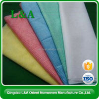 Embossed viscose/polyester wet wipes/tissues/towels non woven spunlace fabrics