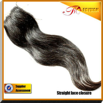 2013 Most Popular Top Quality Virgin Brazilian Human Hair cheap natural straight lace closure