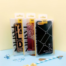 customized transparent plastic packaging box for cell phone case