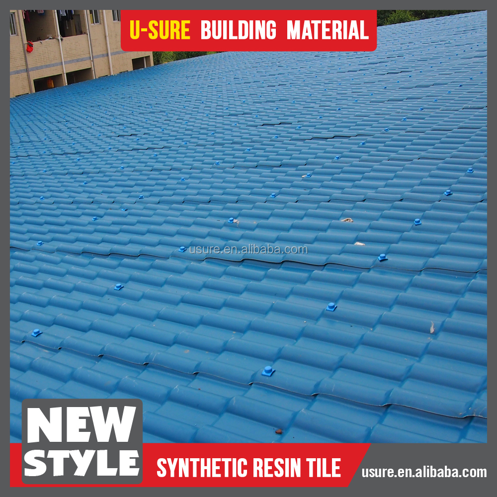High Durability Asian Style Blue Color Roof Tiles