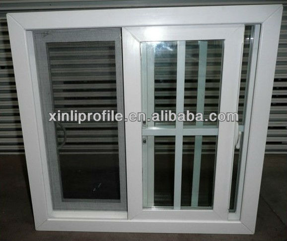 pvc profile for sliding window with screen window