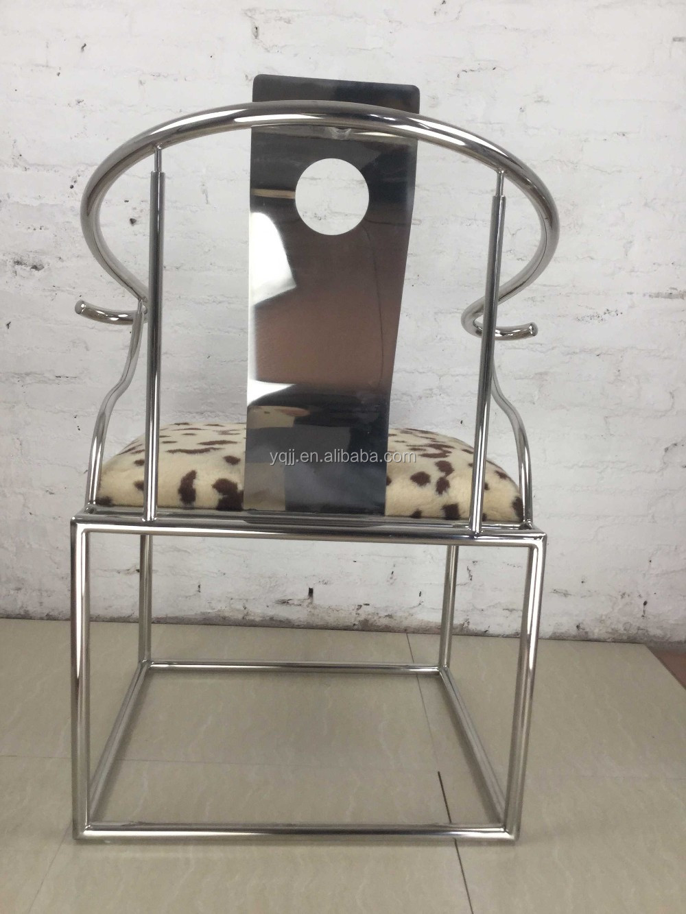 Soft comfortable stainless steel modern leisure chair furniture