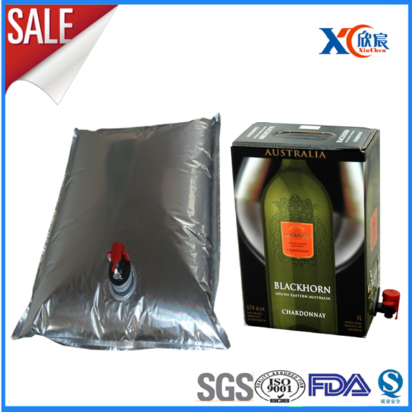 Wine packaging use aluminum foil 5L wine bladder