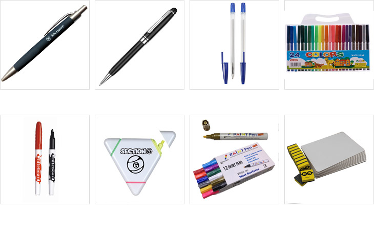 message banner pen logo metal clip ball point pen