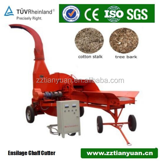 Rice straw stalk cutter chaff cutter for animal feed