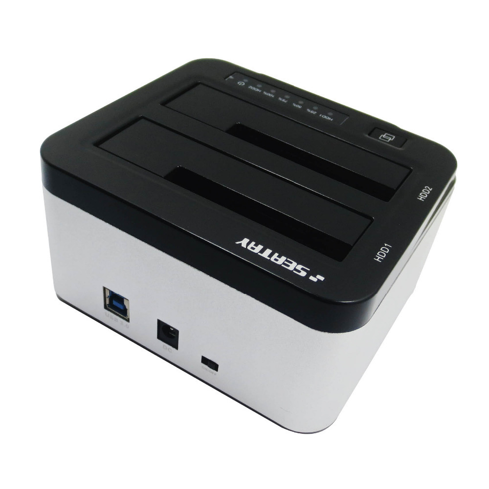 High quality USB3.0 Dual bay 2.5 and 3.5 sata hard driver dock(2 in 1)