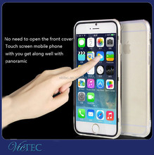 Ultra-thin Flip Clear TPU Case Cover Skin For iPhone 6 Silicone Case
