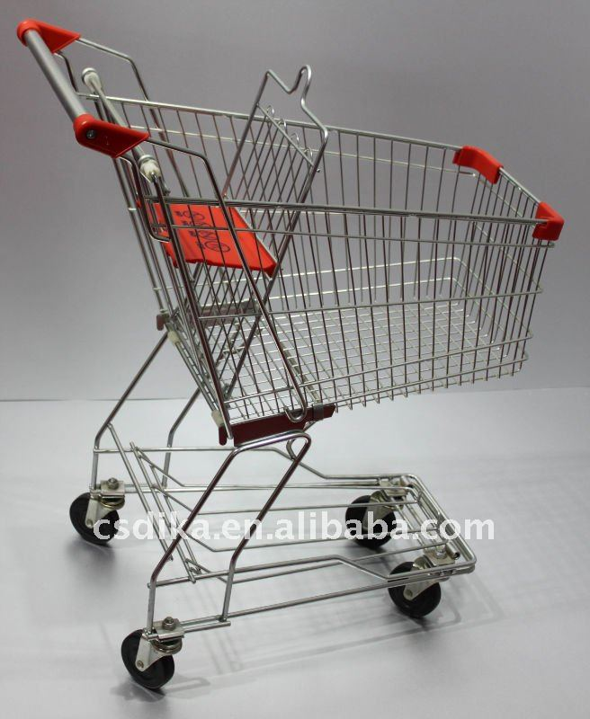 Japanese supermarket pull trolley shopping