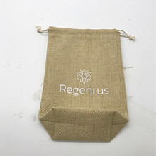 Custom High Quality Square Bottom Hessian Hemp Tote Bags With Logo