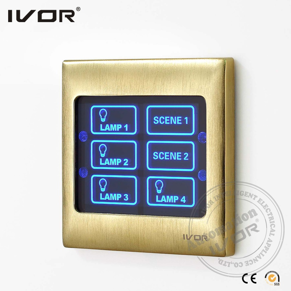 High Quality Touch Screen Light Switch Remote Control Wall Lighting Switch