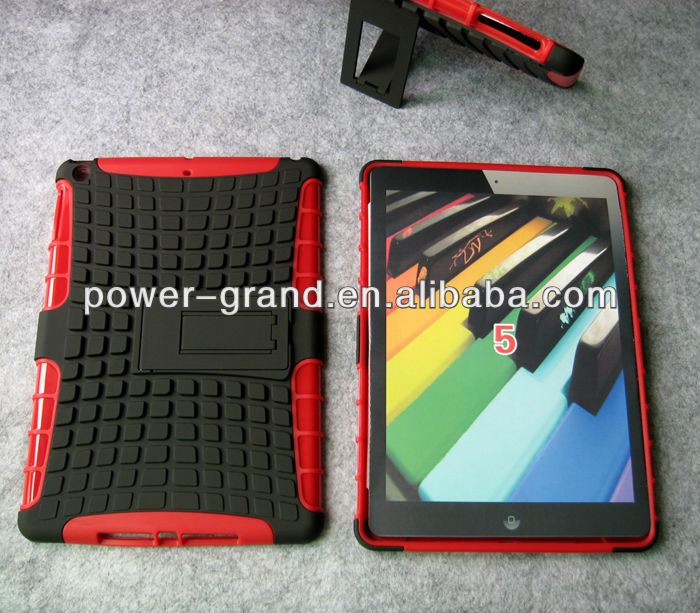PC and TPU Stand hybrid case for Ipad5, 50pcs to start