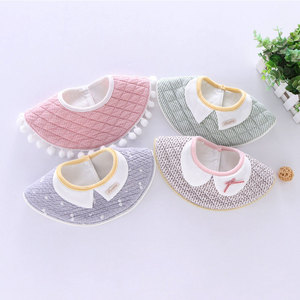 Customized High Quality Cotton Printed Baby Bibs With Snaps