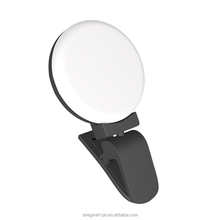 Universal Circle portable flash camera usb led rechargeable fill selfie ring light For Mobile Cell Phone