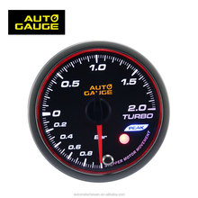 52mm Various Types Angel Ring Black Panel LED Car Spare Parts Turbo Boost Gauge