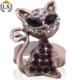 RLX-00211 2018latest wholesale cat acrylic ring rhinestone crystal rings animal shaped ring