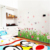 Hot Sales Colorful Flower Home Decor Removable Wall Border Sticker
