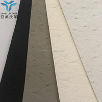 LUXURIOUS MARINE OSTRICH Pvc Sponge Leather