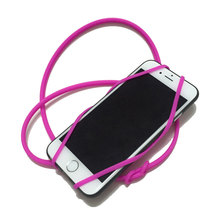 Silicone Smart Phone Wallet ID card holder pouch with lanyard